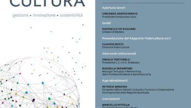 """Photo of Presentazione del 13° Rapporto Annuale Federculture """"Impresa Cultura 01 Febbraio a Matera"""