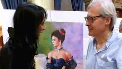"""Photo of Ancora un successo per Ester Campese a Venezia alla mostra """"Sconfini"""" presentata da Sgarbi"""