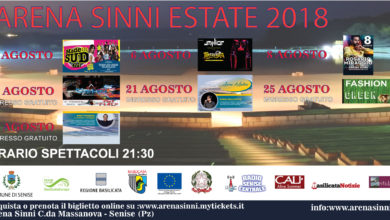 Photo of Arena Sinni Estate 2018 un calendario ricco di eventi per l'anfiteatro sul lago di Monte Cotugno