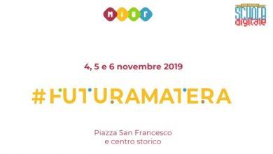 """Photo of Miur presenta """"Futura Matera"""" 04-06 Novembre 2019"""