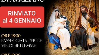 Photo of Presepe Vivente Sant'Angelo di Avigliano rinviato al 4 gennaio