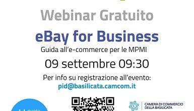 Photo of Ebay for business, iscrizioni al webinar sull'e-commerce della Camera di Commercio