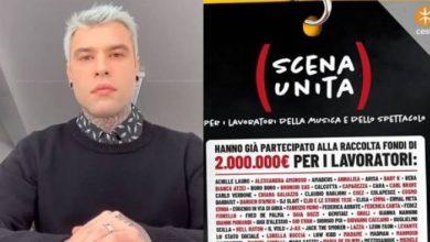 Photo of Scena Unita, Fedez (con altri 70 artisti) lancia un fondo per i lavoratori della musica