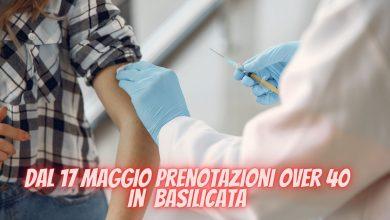 Photo of Basilicata: da lunedì 17 al via le prenotazioni vaccini per gli over 40